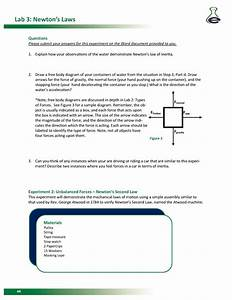 Newtons Second Law Free Body Diagram Worksheet Answers