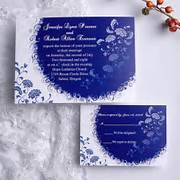 Cheap Royal Blue Floral Wedding Invitations As Low As Per Set Cheap White And Tiffany Blue Pocket Wedding Invitation Kits Online Blue Wedding Invitations Cheap Invites At Wedding Invitation UKPS042 UKPS042 Cheap Wedding