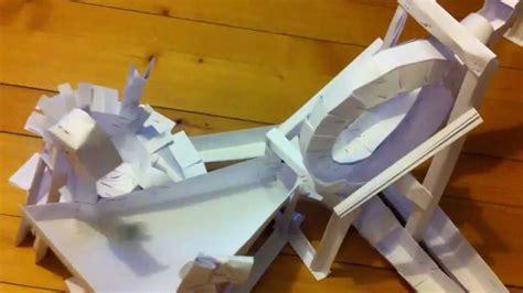 aus papierröllchen kugelbahn aus papier