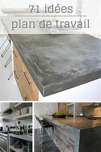 Recouvrir Plan De Travail Cuisine Adhesif : plan de travail cuisine en 71 photos id es inspirations ~ Dailycaller-alerts.com Idées de Décoration