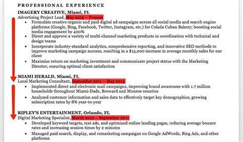 Chronological Resume Marketing by Marketing Resume Sle Writing Tips Resume Companion