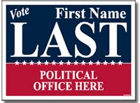 caign sign template political yard signs poster board sign style p205