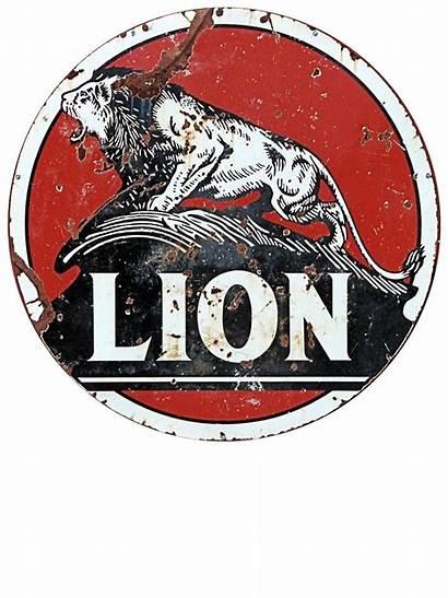 Gas Signs Oil Sign Lion Gasoline Metal
