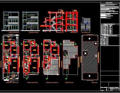 house submission drawing autocad dwg plan  design