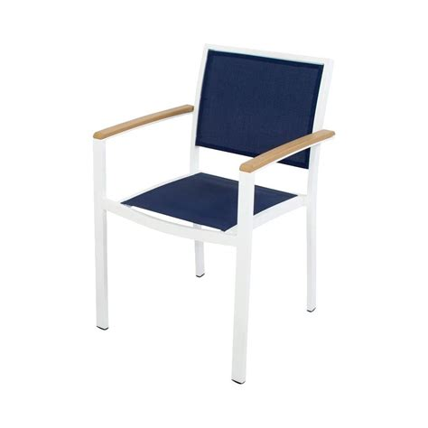 Sling Stacking Chair Home Depot by Hton Bay Sling Stack Patio Arm Chair 2 Pack