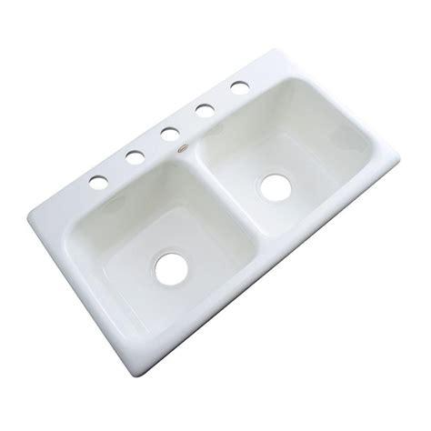 drop in kitchen sinks bowl thermocast brighton drop in acrylic 33x19x9 5 9621