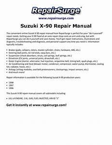 Suzuki X 90 Repair Manual 1996 1998 By Edward512