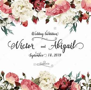 floral invitation template songwol 714fa1403f96 With wedding invitations dried flowers