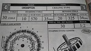 Ceiling Fan Winding Data 10 20 30 Coils  U0026 14 16 30 Coils