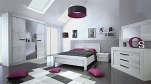 Chambre Complete Adulte : chambre adulte compl te ch ne gris maeva 160 ~ Carolinahurricanesstore.com Idées de Décoration