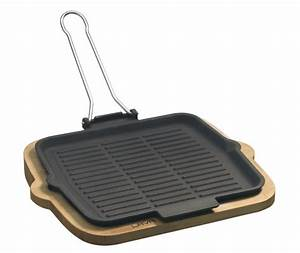 Gusseisen Pfanne Rechteckig : grill pfanne eckig 24 x 24cm mit klappbaren drahtgriffen und serviergestell ~ Markanthonyermac.com Haus und Dekorationen