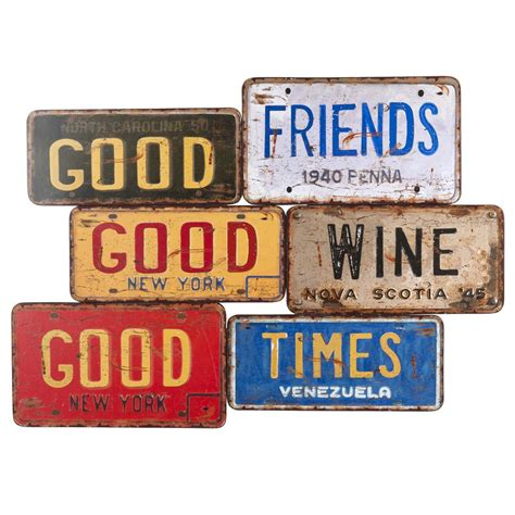 plaque en metal deco plaque d 233 co en m 233 tal l 68 cm us signs maisons du monde