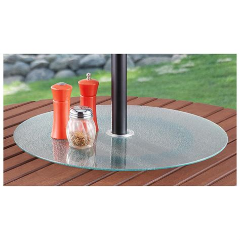 lazy susan for umbrella table lazy susan with ice glass 214700 patio furniture at