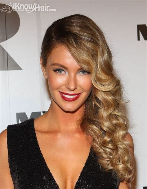 one side hairstyle a new trend from the red carpet