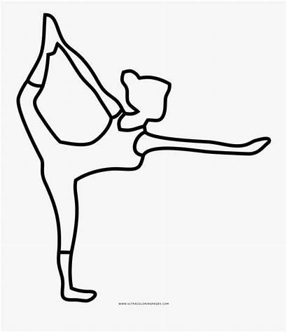 Yoga Coloring Pose Line Clipartkey