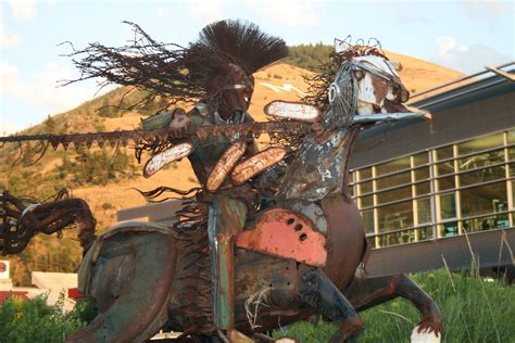 Mt Sentinel with native American art - Michael Coonrod