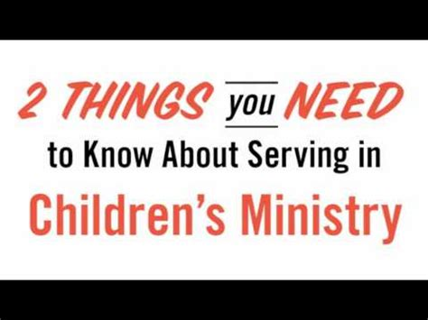 childrens ministry volunteer training  mark moore youtube