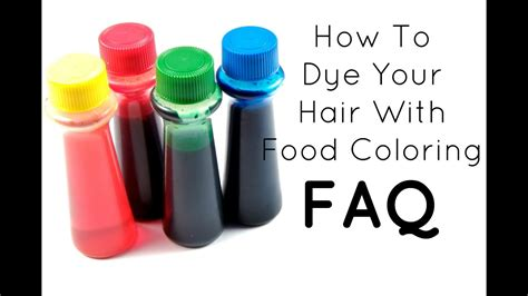 Faq How To Dye Your Hair With Food Coloring Youtube