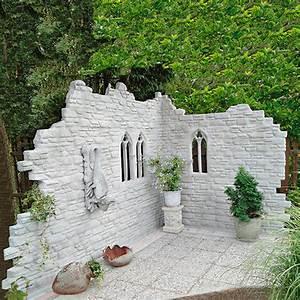 garten deko ruine kingsborough von gartner potschke With französischer balkon mit garten deko steine