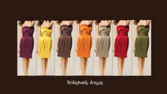 fall color bridesmaid dresses fall wedding bridesmaid dresses colors pictures ideas guide to buying stylish wedding dresses