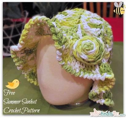 Crochet Pattern Easter Hat Sun Bonnet Sunhat
