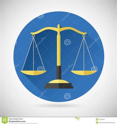 foto de Law Balance Symbol Justice Scales Icon On Stylish Stock