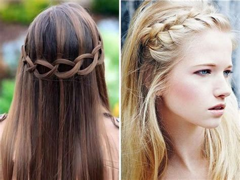 prom hairstyles for straight hair down hair