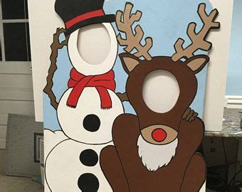 frosty photo booth prop christmas party decor face