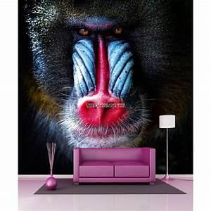 Papier Peint Geant : papier peint g ant babouin 11053 stickers muraux deco ~ Premium-room.com Idées de Décoration