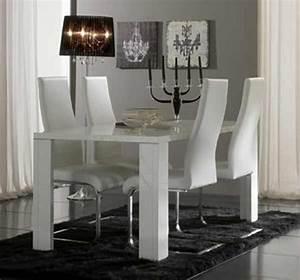 Table Laqué Blanc : table de repas tania laque blanc ~ Teatrodelosmanantiales.com Idées de Décoration