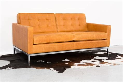 leather settees for sale florence knoll leather settee for sale at 1stdibs