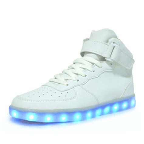 led shoes buying guide von led light white high cut sport shoes glow sneakers running