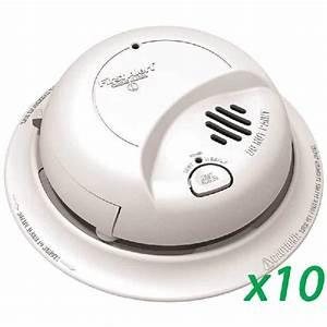 First Alert Brk 9120b  10pack  Ac Powered Smoke Detector