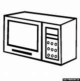 Oven Microwave Coloring Pages Template Sketch Thecolor sketch template