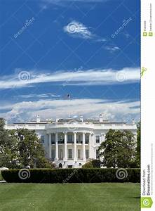 White House Over Deep Blue Cloudy Sky Royalty Free Stock ...