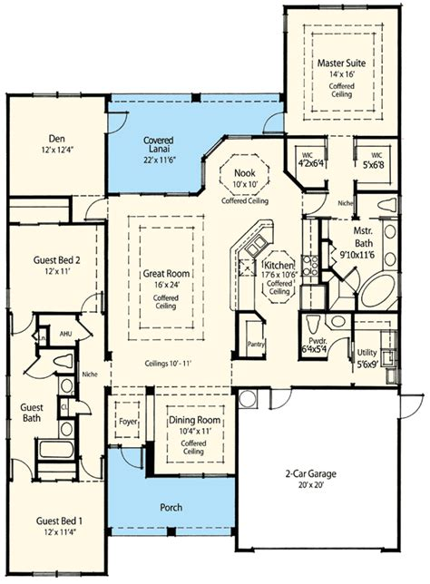 ranch house plans with 2 master suites energy efficient house plan 33002zr architectural