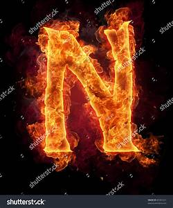Fire Burning Letter N Stock Photo 85391221 - Shutterstock