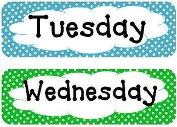 polka dot days   week  months   year