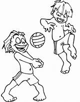 Volleyball Coloring Pages Beach Printable Cliparts Ball Playing Clipart Play Cartoon Gloom Ruby Library Sand Castle Drawing Vollyball Popular Colouring sketch template