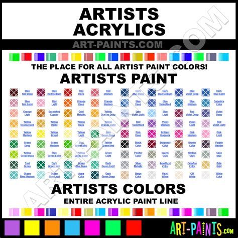 artists acrylic paint brands artists paint brands