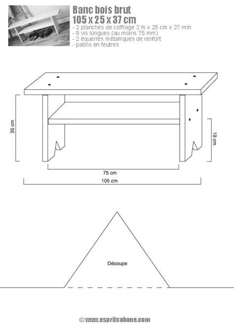 plan banc bois banc en bois esprit cabane idees creatives et ecologiques