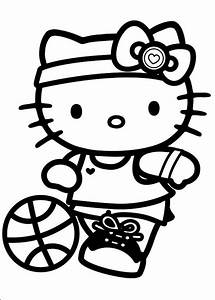 Coloriage De Hello Kitty Dessin Une Grande Joueuse De