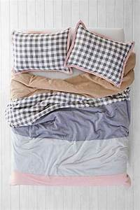 4040 Locust Plaid Stripe Duvet Cover - Urban Outfitters