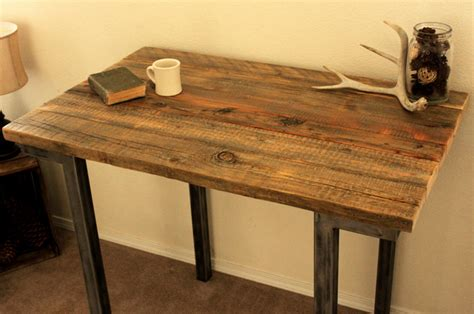 reclaimed wood bar pub table modern indoor pub