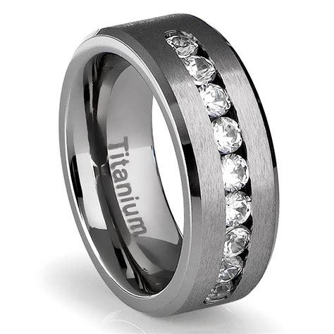 black mens wedding rings mens titanium wedding rings wedding promise 1859
