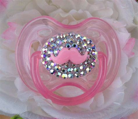 chupones  bebes decorados  cristales  como