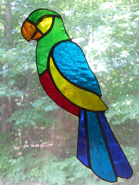 stained glass parrot stained glass pinterest