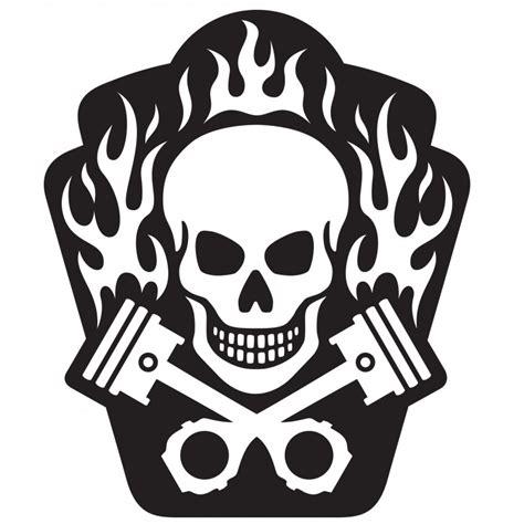 Stickers Tête De Mort Fun Etiquette & Autocollant