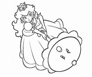 Free coloring pages of baby daisy and peach