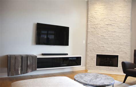 floating media center designs  clutter  living room